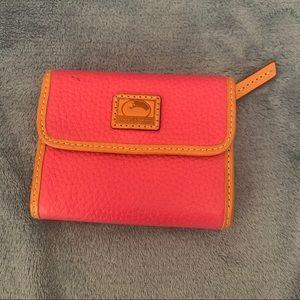Dooney & Bourke Pink Trifold Wallet